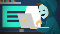 Animation of a hacker