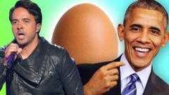 Luis Fonsi, an egg and Barack Obama