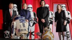 Star Wars cast pose at Last Jedi cast Q & A
