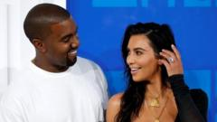 Kim Kardashian and Kanye West arrive at the 2016 MTV Video Music Awards in New York.