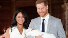 Duke and Duchess of Sussex with their baby son Archie