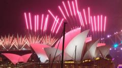A fireworks display over Sydney Opera House took place during Australia's New Year's Eve celebrations