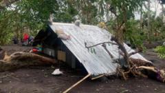 "View of Typhoon Goni""s aftermath in San Francisco, Guinobatan"