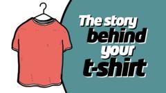 A picture of a t-shirt next to text reading 'The story behind your t-shirt'