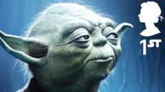 Stamp featuring Yoda