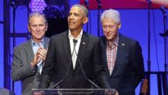Obama, Clinton, and Bush
