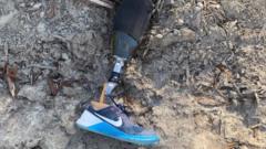 Leg lying in the dirt