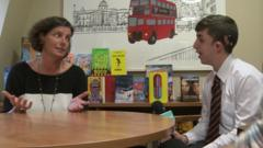Frankie asks a question at Bloomsbury