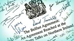 Front cover of the Good Friday Agreement