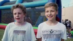Children at an international school in Nice