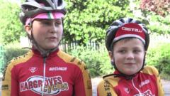 Young cyclists