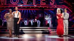 Judi Love and Graziano Di Prima face Katie and Gorka in the Strictly week three results show