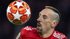 Franck Ribery with a 7 shaved into his head