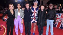 Amanda Holden, Alesha Dixon, Ant McPartlin, David Walliams, Declan Donnelly and Simon Cowell arrive at the Britain's Got Talent 2019 photocall