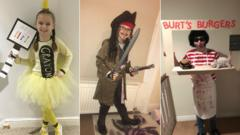 Collage of Newsround viewers dressed as World Book Day characters.