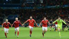 Wales celebrate win