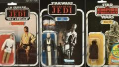 Star Wars The Return of the Jedi Luke Skywalker vintage, 8D8 and Bobba Fett figures