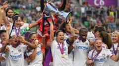 Lyon win win's Champions League trophy