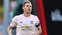 Man United midfielder Nemanja Matic without a poppy on his shirt.