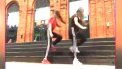 people doing stair dance