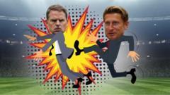 Frank de Boer and Steve Parish