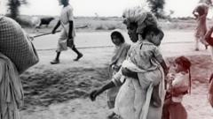 People migrating in the Partition of India.