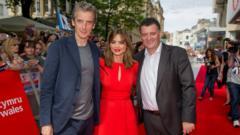 Peter Capaldi, Jenna Coleman and Steven Mofatt