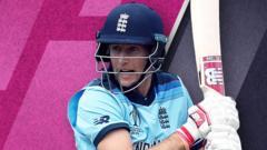 Joe Root batting for England
