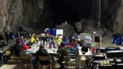 Volunteers taking part in the Deept Time experiment in the Lombrives cave in south-west France