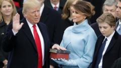 Donald Trump takes his oath of office