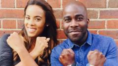 Rochelle Humes and Melvin Oddom