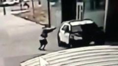 CCTV of shooting