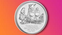 Alice In Wonderland coin.
