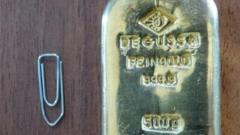 Police photo of gold bar found in Koenigssee lake
