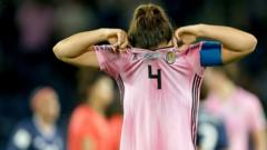 "Scotland's Rachel Corsie appears dejected after the final whistle in the FIFA Women""s World Cup, Group D match at the Parc des Princes, Paris."