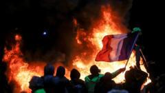Protestors in Paris.