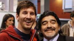 leo messi and maradona