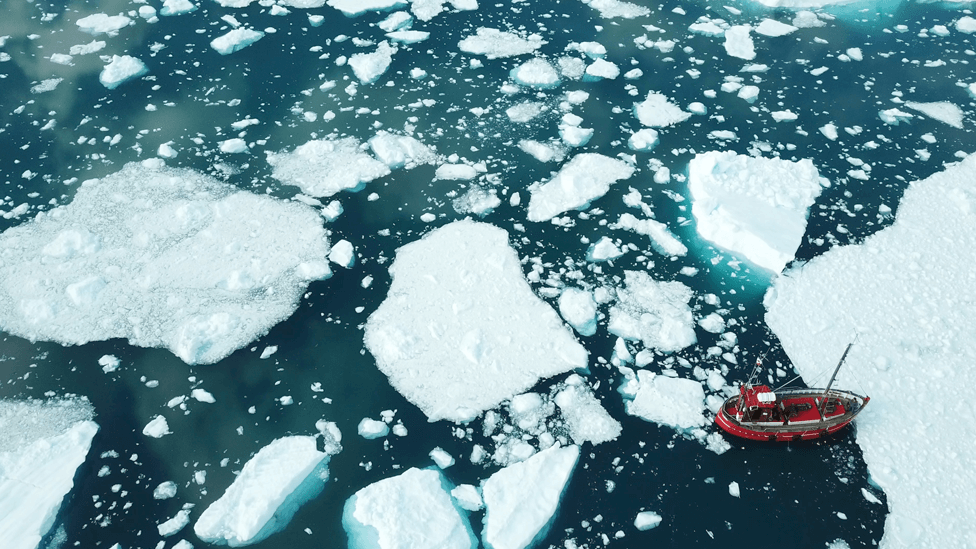 Melting ice in Greenland