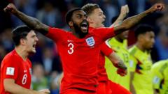 Danny Rose celebrating after England penalty shootout