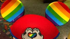 Rainbow Mickey Mouse ears