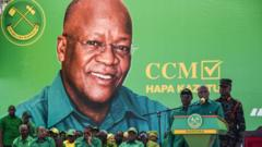 President Magufuli at a rally