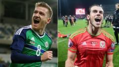 Northern Ireland's Steven Davis and Wales' Gareth Bales