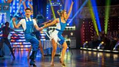 Ashley Roberts and Pasha Kovalev dancing