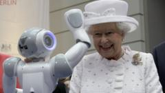 Queen meets a robot