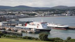 Ben-my-Chree and Manannan ferries