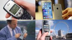 Phones through the years