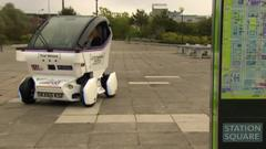 The driverless pods can reach up to 15mph