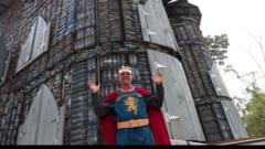 The plastic 'King' with his plastic castle