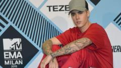 Bieber won five awards including best male