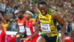 Jamaica's Usain Bolt brings home gold in the 4x100m men relay during the Beijing 2015 IAAF World Championships at the National Stadium, also known as Bird's Nest, in Beijing, China, 29 August 2015.